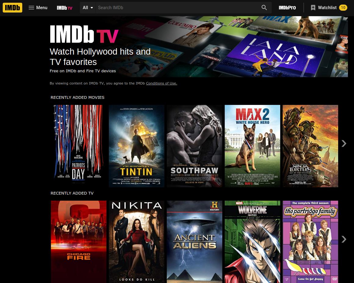 Обзор IMDb TV: все, что нужно знать о бесплатном потоковом сервисе