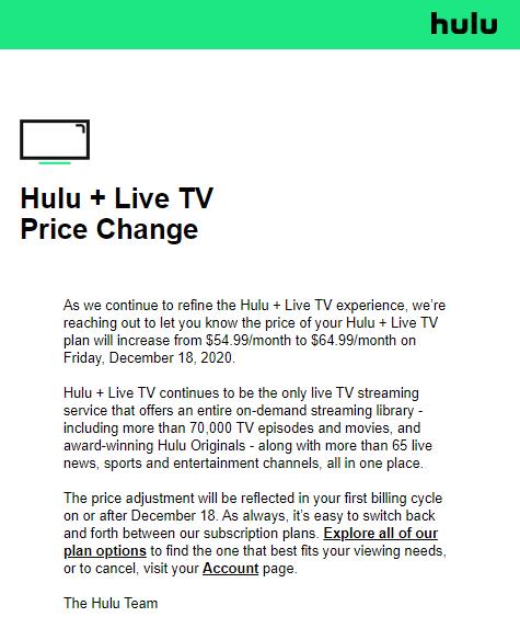 Hulu только что объявила о повышении цен на свою службу потокового вещания