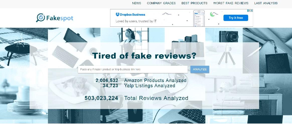 Используйте этот бесплатный инструмент для обнаружения фальшивых обзоров Amazon и Yelp