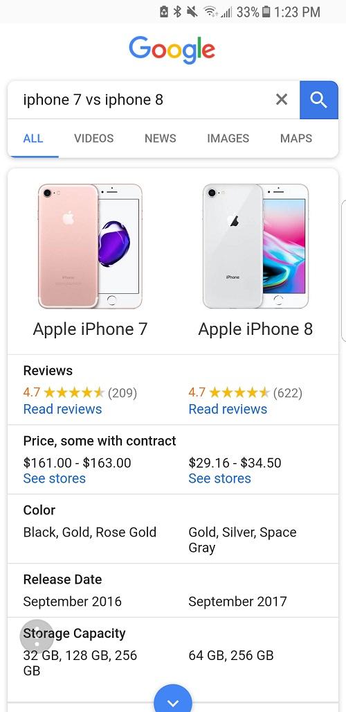 Используйте этот инструмент сравнения для покупки нового сотового телефона