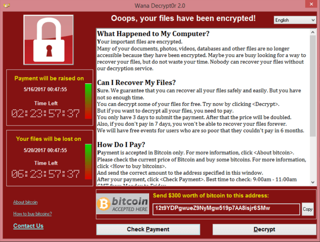 Эксперты по безопасности: атака программы-вымогателя WannaCry, возможно, только начинается