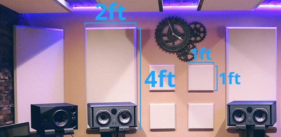 Руководство по выбору размеров акустических панелей - насколько они должны быть большими?