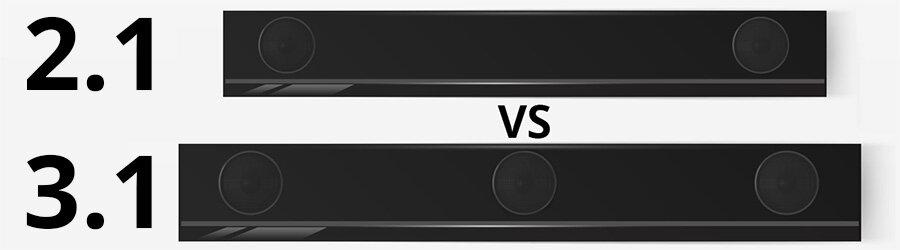 В чем разница между звуковой панелью 2.1 и 3.1?